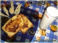 Молочные тосты на завтрак :)