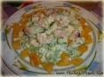 Креветочный салат с сельдереем и яблоком :)