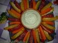 Творожной крем с овощами на закуску :)
